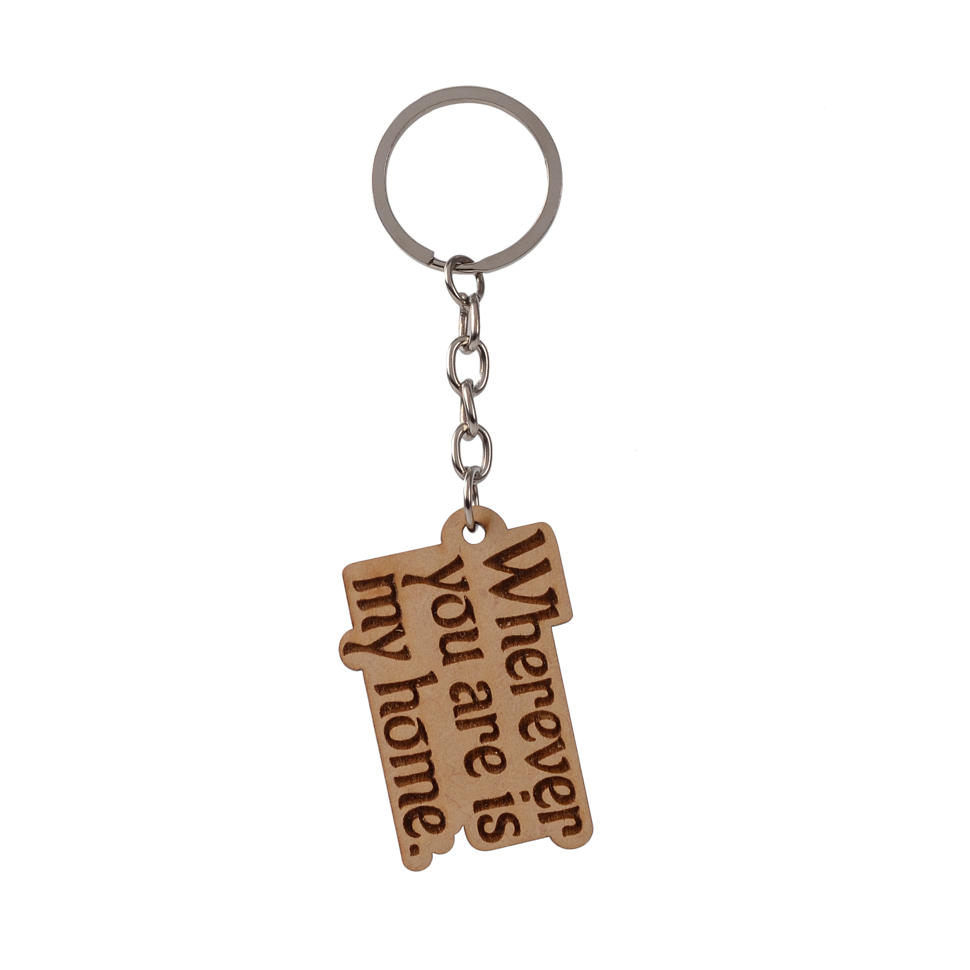 Love Keychain , wherever you are is my home