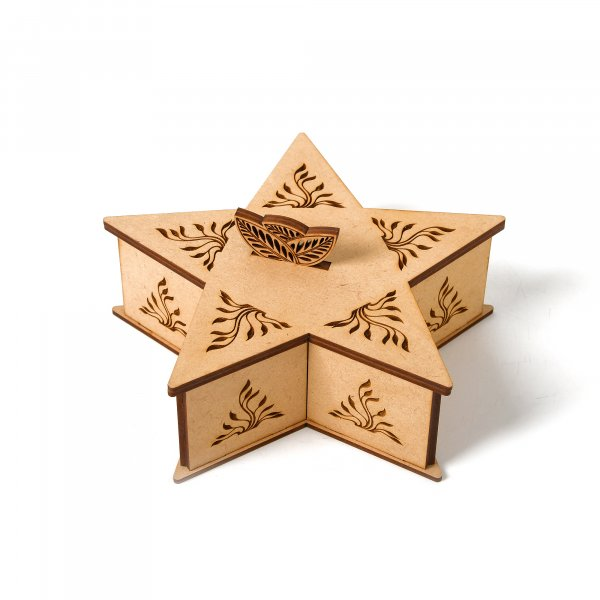 Star Wooden Gifting Box