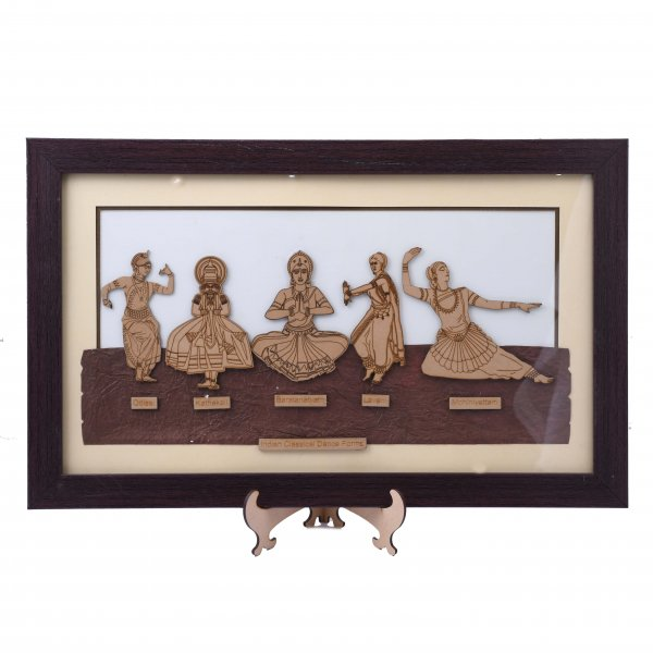 Indian Dance Forms Wooden Frame