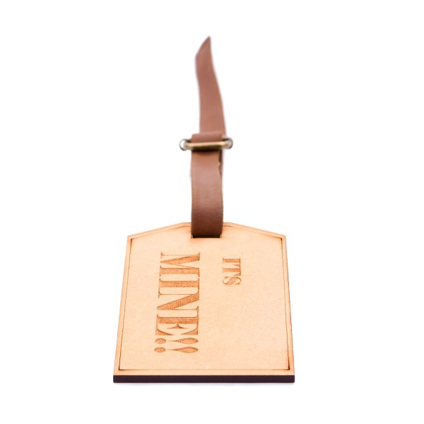 It's Mine!! Engraved Wooden Luggage Tag