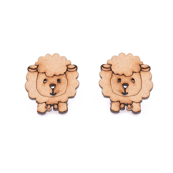 Sheep Wooden Earring Stud