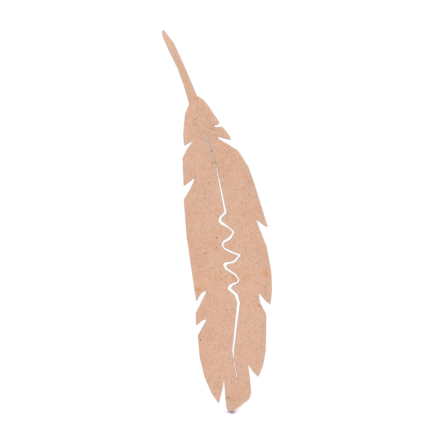 Wooden Bookmark in Feather Shape