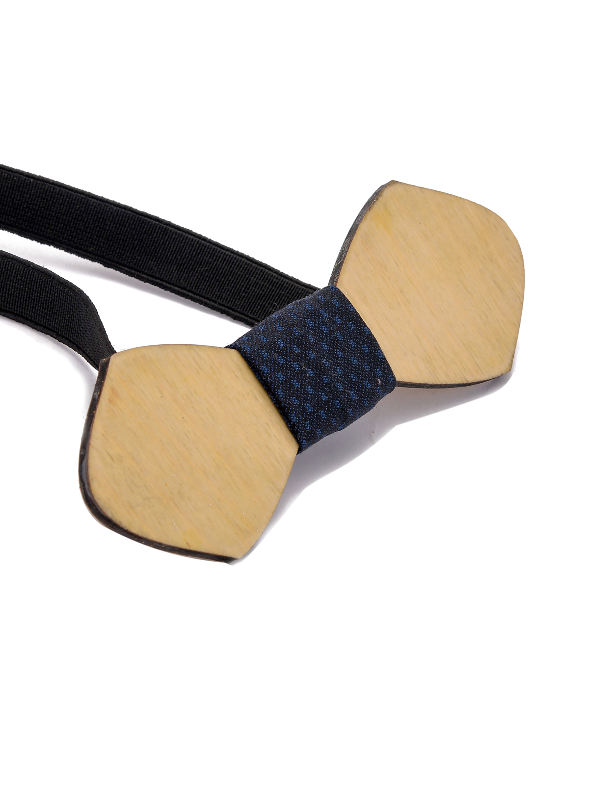 Wooden Bow Tie Geometrical Shape