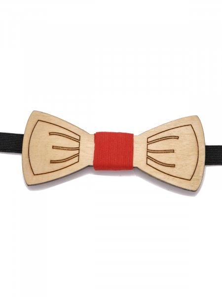 Engraved Wooden Bow Tie