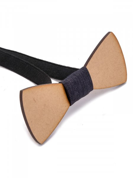 Laser Engraved Wooden Bow Tie