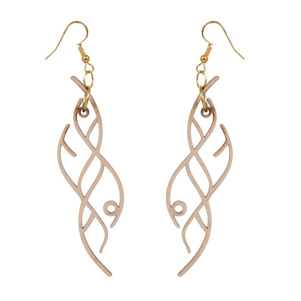 Wooden Jalii Shape Earring