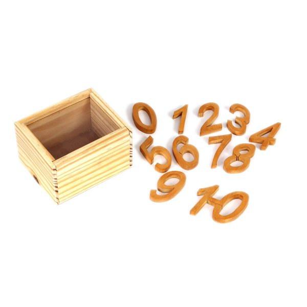 Wooden  Handcrafted Numbers Italic (0-10)