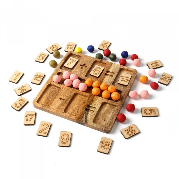 Wooden Calculation Tray ( Addition & Subtraction )