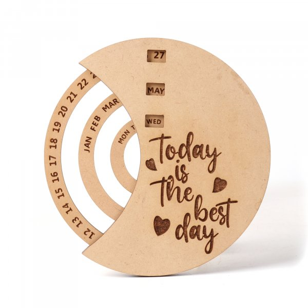 Never Ending Wooden Table Calendar | Perpetual Calendar