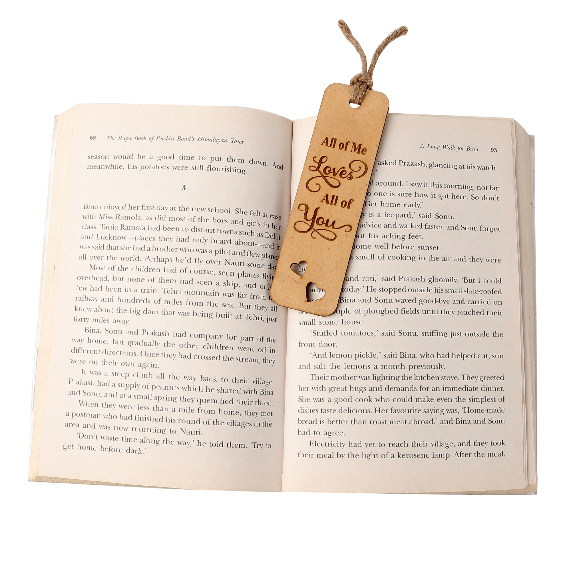 All Of Me Loves All Of You Wooden Bookmark
