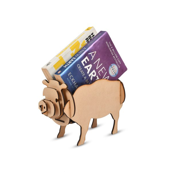 Pen Stand PIG Shaped DIY (Wooden)