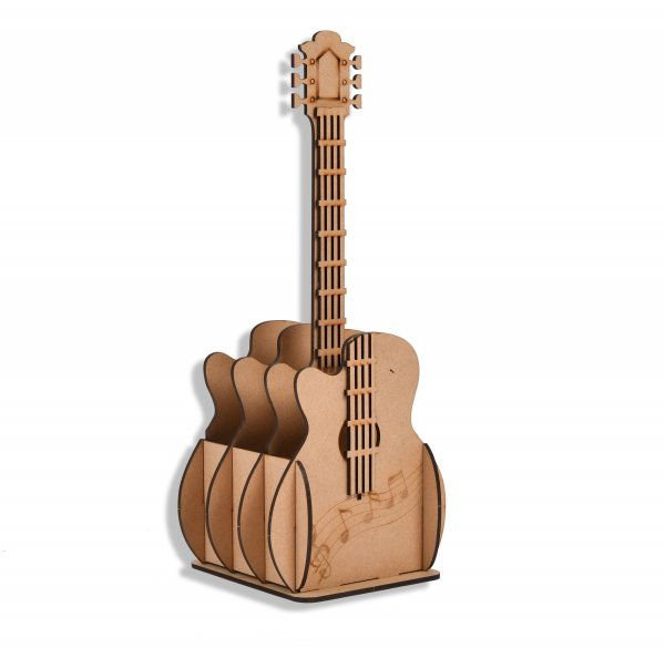 Pen/Pencil Stand Guitar Shaped (Wooden)