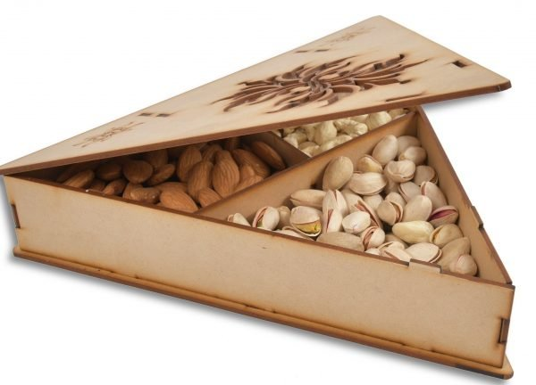 Triangle Dry Fruit Gifting Box