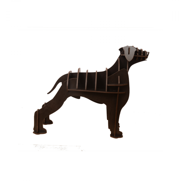 Dog Shaped Wooden Bookshelf DIY Easy to Assemble