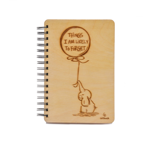 Things I'm Likely to Forget - Wooden Personalised Notebook