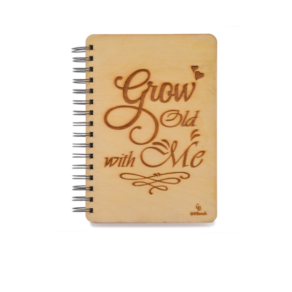 Grow Old with Me Customized Wooden Diary/Notebook